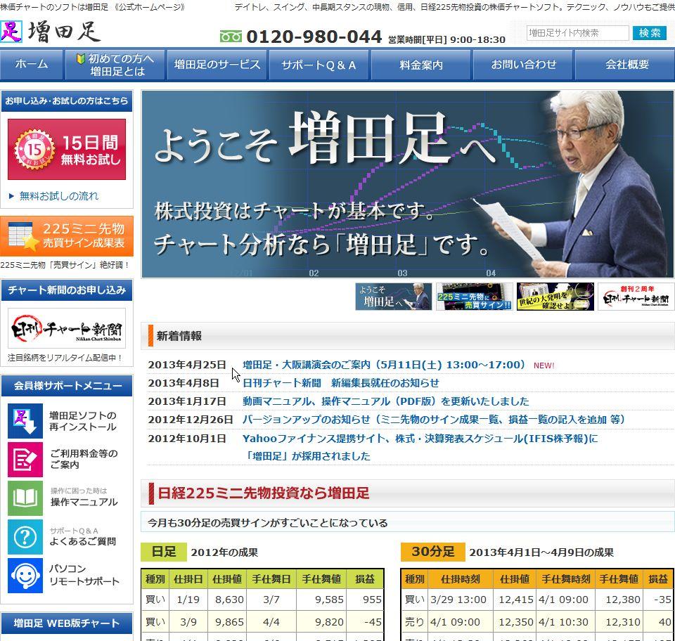 増田足(増田経済研究所)のサイトキャプチャー画像