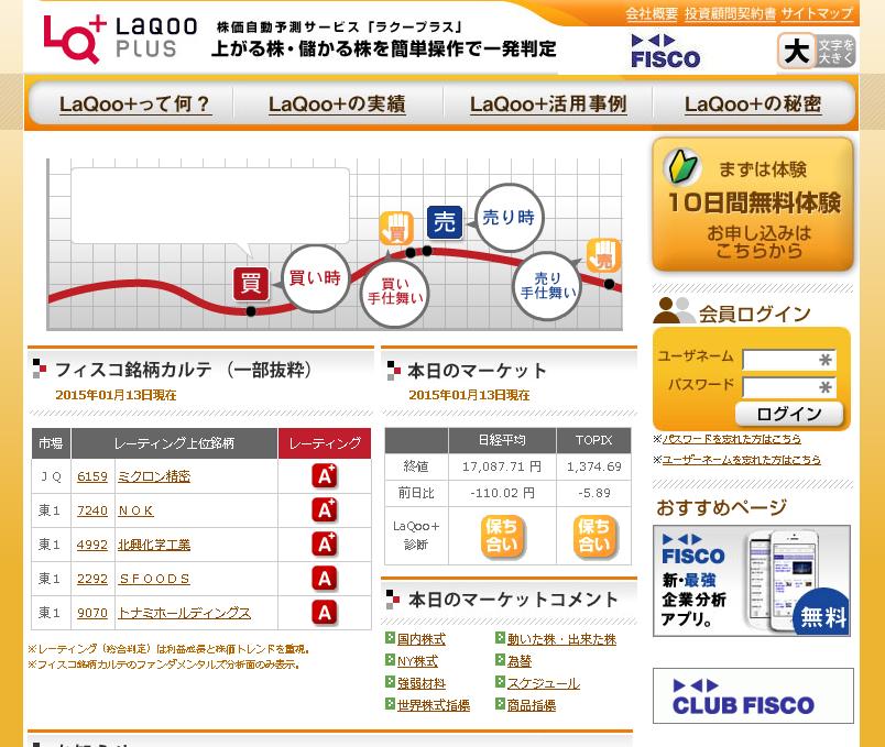 ラクープラス(LaQoo+)のサイトキャプチャー画像